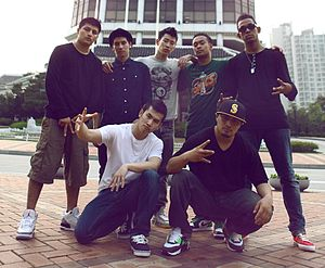 Jay Park - Park and some members of his b-boy crew, Art of Movement