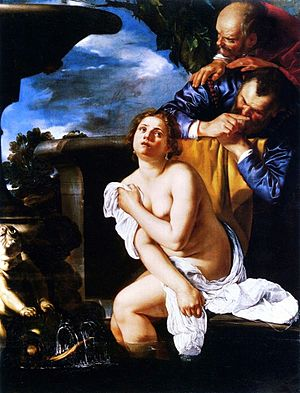 Burghley House - Susanna and the Elders, Artemisia Gentileschi, 1622
