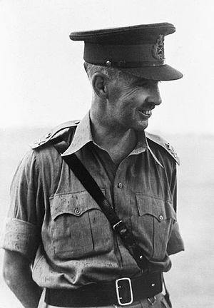 Khaki drill -  Lieutenant-General Arthur Percival, GOC of Malaya at the time of the Japanese invasion, wearing the officer's KD bush jacket.
