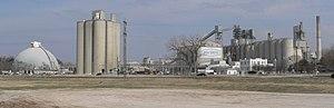 Louisville, Nebraska - Ash Grove cement plant in Louisville