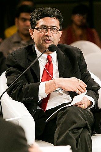 Ashish Chauhan - Image: Ashish Chauhan at the World Economic Forum on India 2012