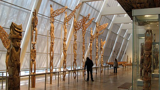 Asmat bis poles from Indonesian New Guinea - the poles are named for deceased people and the huge phalluses on top represent fertility. - panoramio