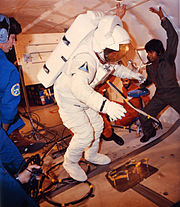 Astronaut Fullerton Suited for Training Exercises on KC-135 - GPN-2002-000147