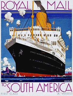 Royal Mail Steam Packet Company - Image: Asturias (Royal Mail Line) par Kenneth Shoesmith