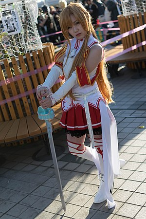 Asuna (Sword Art Online) - The popularity of the character has made her a popular subject of cosplay.