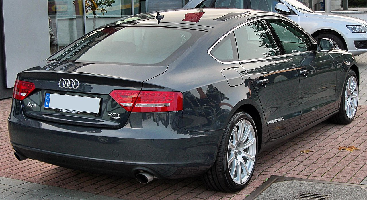 file audi a5 sportback rear wikimedia commons. Black Bedroom Furniture Sets. Home Design Ideas