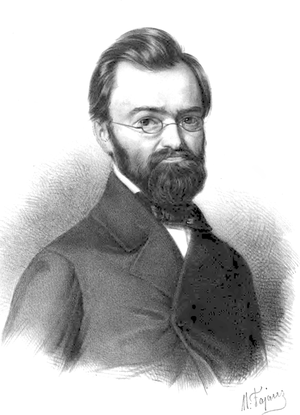 August Cieszkowski - August Cieszkowski.  Portrait by Maksymilian Fajans.