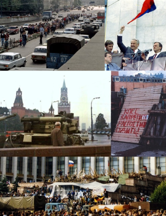 1991 Soviet coup d'état attempt - Image: August Coup montage