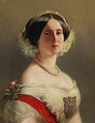 Augusta of Saxe-Weimar-Eisenach - Kaiserin Augusta of Germany in her youth, 1850s.