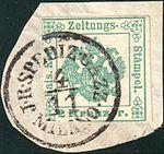 Austria 1853 Ia blue green MILANO.jpg