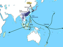 Austro-Tai-Japonic homeland and migration.png