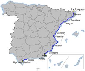 Carte Espagne Avec Kilometrage.Autoroute Ap 7 Espagne Wikipedia