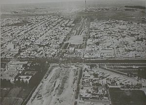 Avenida General Paz - The ring road under construction c.1940.