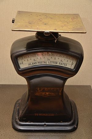 "Calibration - An example of a weighing scale with a ½ ounce calibration error at zero. This is a ""zeroing error"" which is inherently indicated, and can normally be adjusted by the user, but may be due to the string and rubber band in this case"