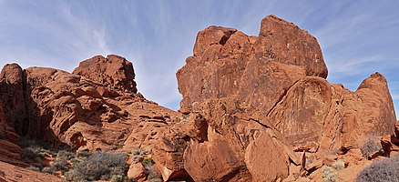 Aztec Sandstone in the Valley of Fire, Nevada, USA.