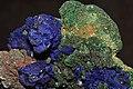 Azurite et malachite sur cuivre 1(Maroc).jpg