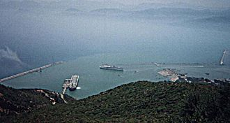 Economy of Algeria - View of the oil port of Béjaïa.