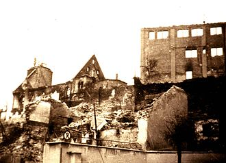 Böblingen - Town center after Allied bombing of civilian homes on 7 October 1943