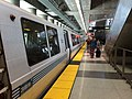 BART train at SFO station, July 2014.jpg