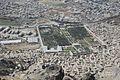 Babur Gardens from a mountain top.jpg