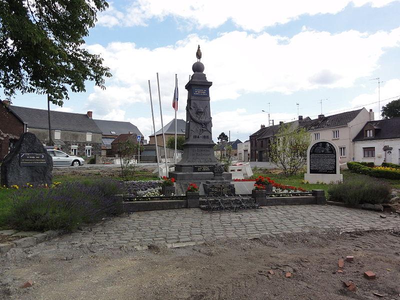 Bachant (Nord, Fr) monument aux morts