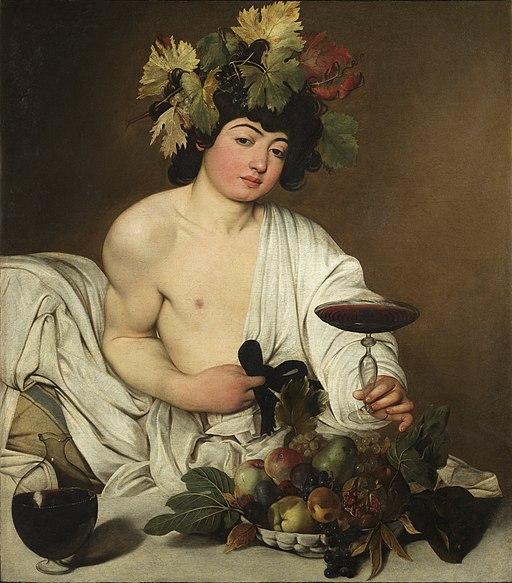 Baco, por Caravaggio