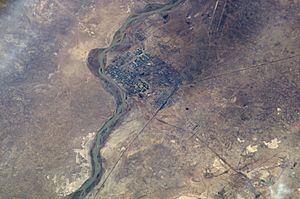 Baikonur - Image: Baikonur from top 2002
