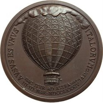 Paolo Andreani - The Emperor's medal showed the balloon on one side