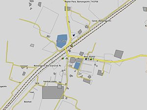 Bamangachhi - Bamangachhi Town map from satellite view