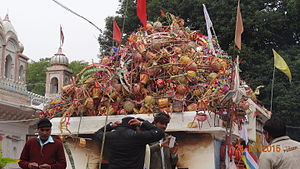 Bandakpur - All the Kanvar-Baskets which are used by Kanvariyas to fetch Narmada river water.
