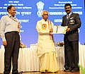 Bandaru Dattatreya presented the Vishwakarma Rashtriya Puraskar and National Safety Awards (performance Year 2013), at a function, in New Delhi on September 17, 2015.jpg