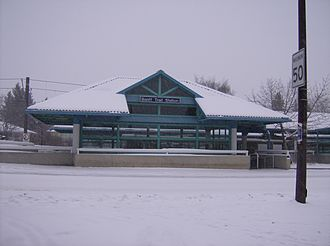 Alberta - Winter scene at Banff Trail station in Calgary