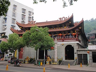 Chinese temple architecture - Temple of Bao Gong in Wenzhou, Zhejiang.