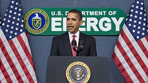 President Barack Obama speaks at the Departmen...
