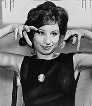 Barbra Streisand en 1962.