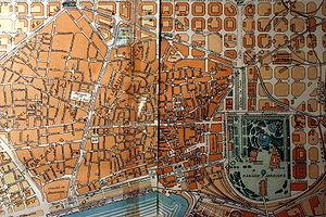 Ciutat Vella - 1860 map.
