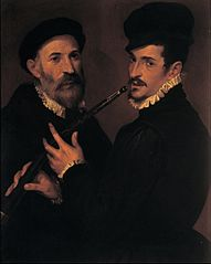Double portrait of musicians