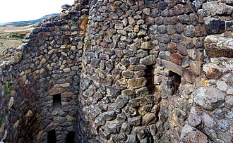 Su Nuraxi (Barumini) - The main tower and the inner courtyard