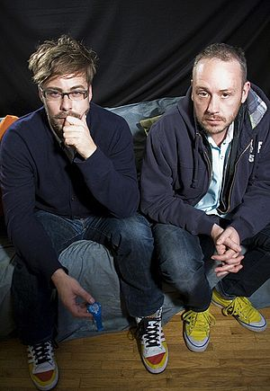 Basement Jaxx - Basement Jaxx in 2009.  From left: Felix Buxton,  Simon Ratcliffe