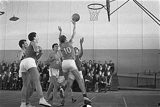 Netherlands national basketball team - The Netherlands, playing at EuroBasket 1959