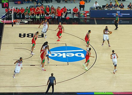 The U.S. playing against Mexico at the 2014 FIBA World Cup Basketball World Cup 2014.jpg