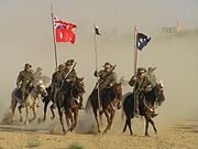 The charge of the 4th Light Horse Brigade re-enacted on its 90th anniversary, October 31, 2007