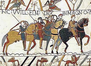 11th century - The Bayeux Tapestry depicting events leading to the Battle of Hastings in 1066