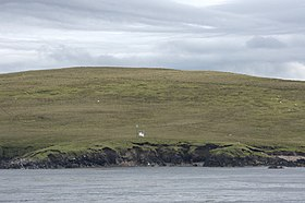 Beacon on the north end of Linga - geograph.org.uk - 1930460.jpg