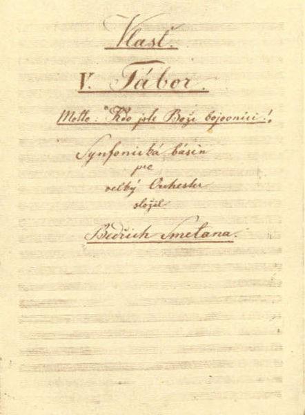 File:Bedřich Smetana, titulní strana k Táboru.jpg