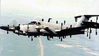 Beechcraft RC-12N Huron in flight.jpg
