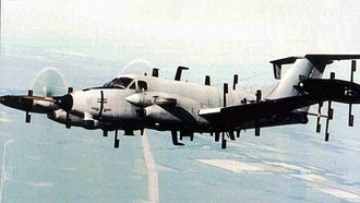 Beechcraft C-12 Huron - An RC-12N Guardrail Common Sensor aircraft