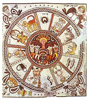 Beit Alfa - Zodiac mosaic, Beit Alfa synagogue