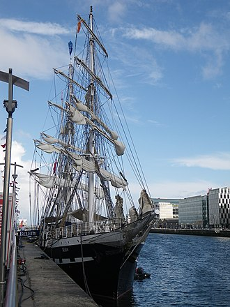Belem (ship) - The Belem in Dublin on 14 July 2010