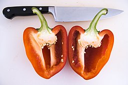 Bell pepper cut apart